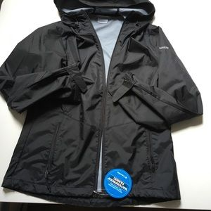 Columbia black waterproof jacket in size medium